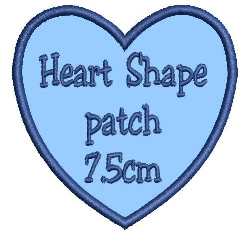 Heart 7.5cm Patch - Add any text.